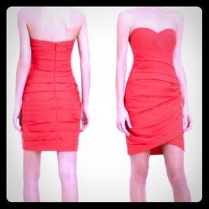 BCBGMAXAZRIA Coral Strapless Dress